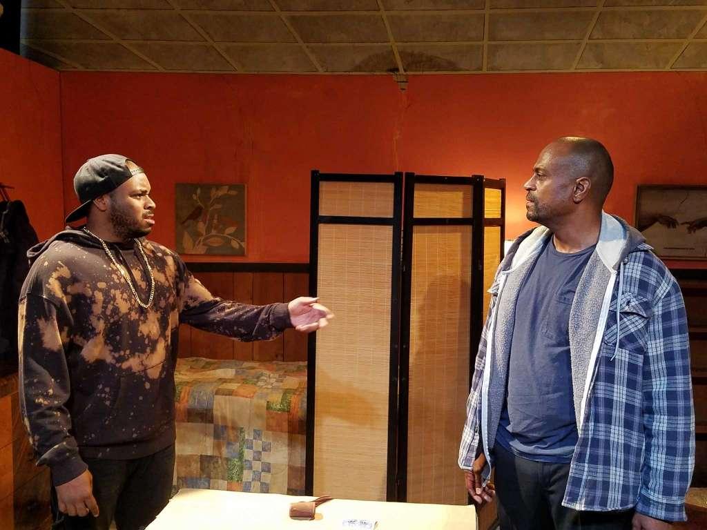 Booth (Tenisi Davis), Lincoln (Terrence Riggins) (photo: Dexter J. Singleton)