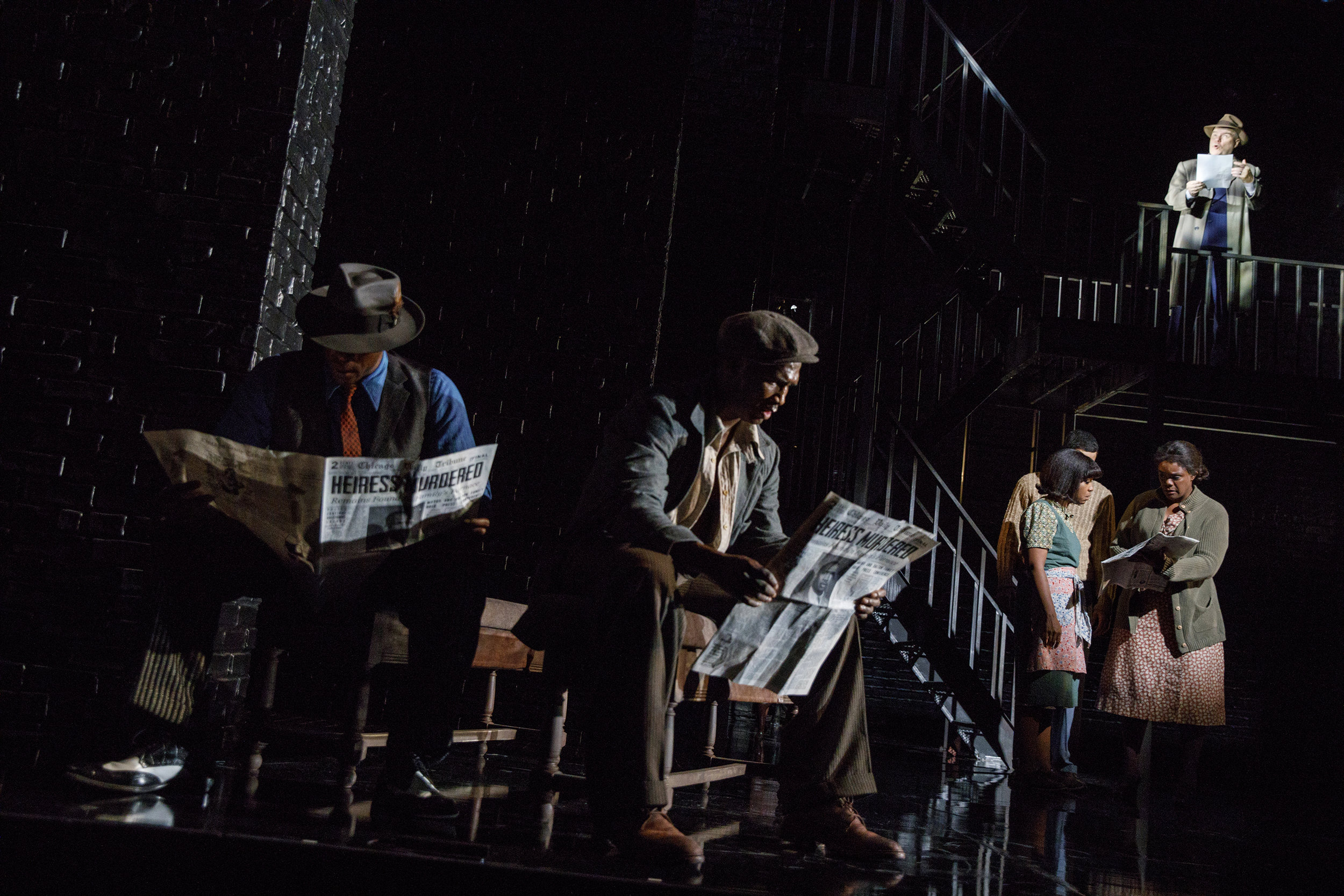 The cast of Native Son at Yale Repertory Theatre (photos: Joan Marcus)