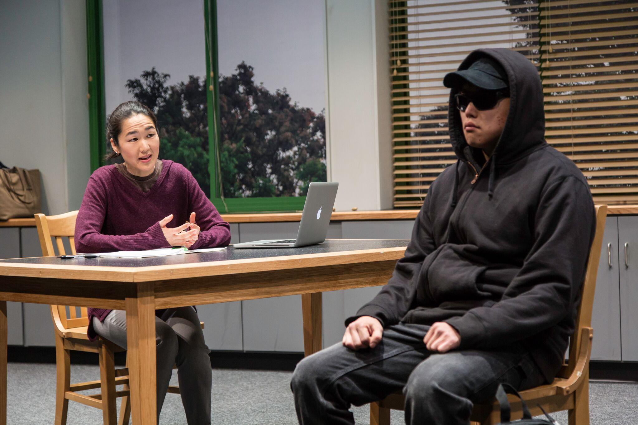 Gina (Jackie Chung), Dennis (Daniel Chung) (photos: T. Charles Erickson)