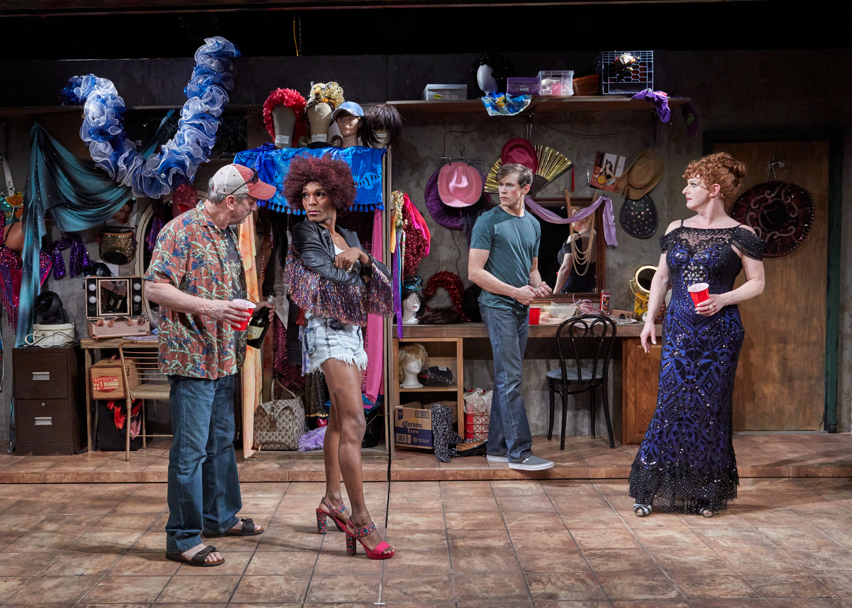Eddie (J. Tucker Smith), Rexy (Nik Alexander), Casey (Austin Thomas), Miss Tracy Mills (Jamison Stern) (photos provided by TheaterWorks)