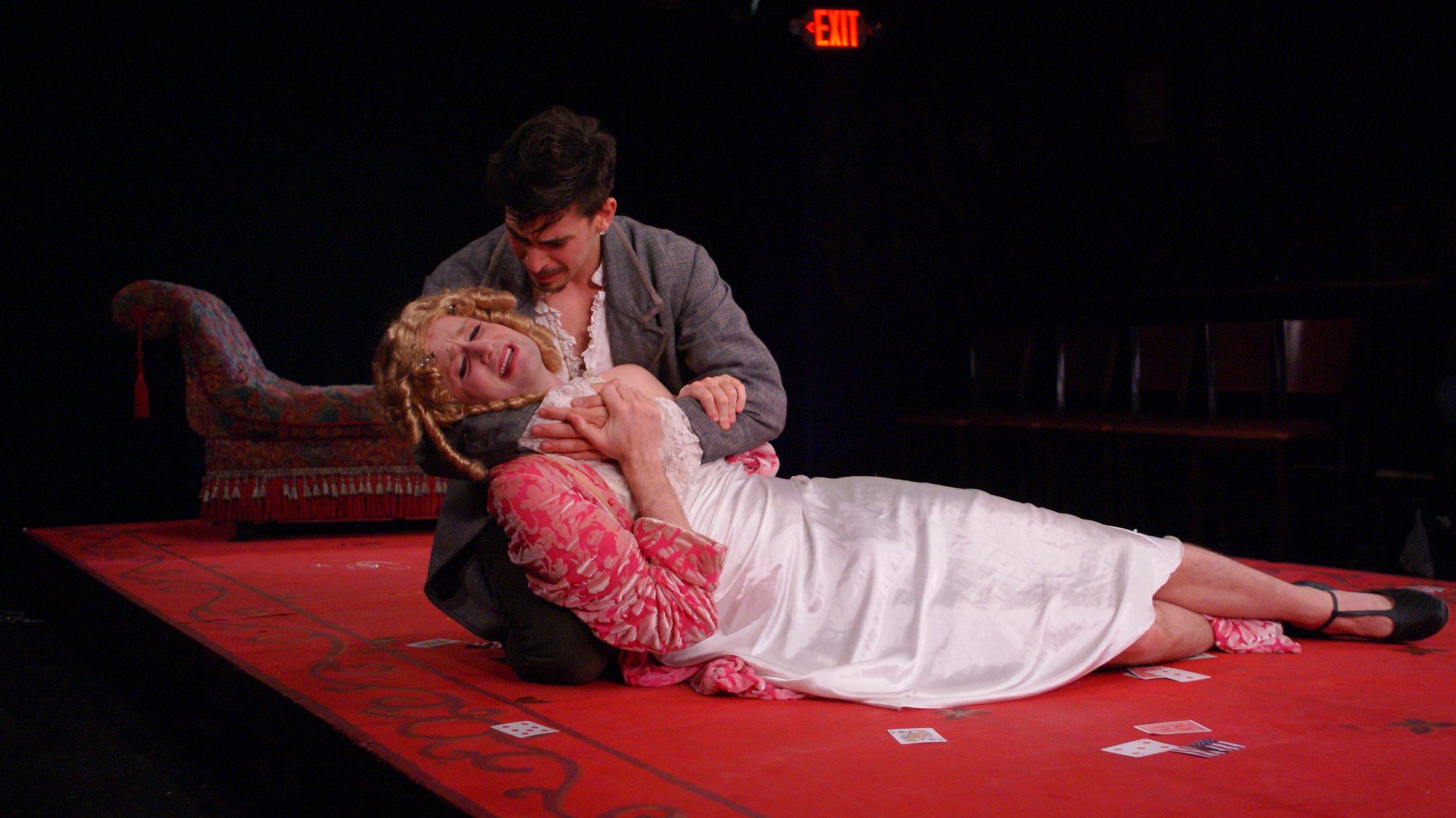 Marguerite Gautier (Michael Breslin), Armand Duval (Arturo Soria)