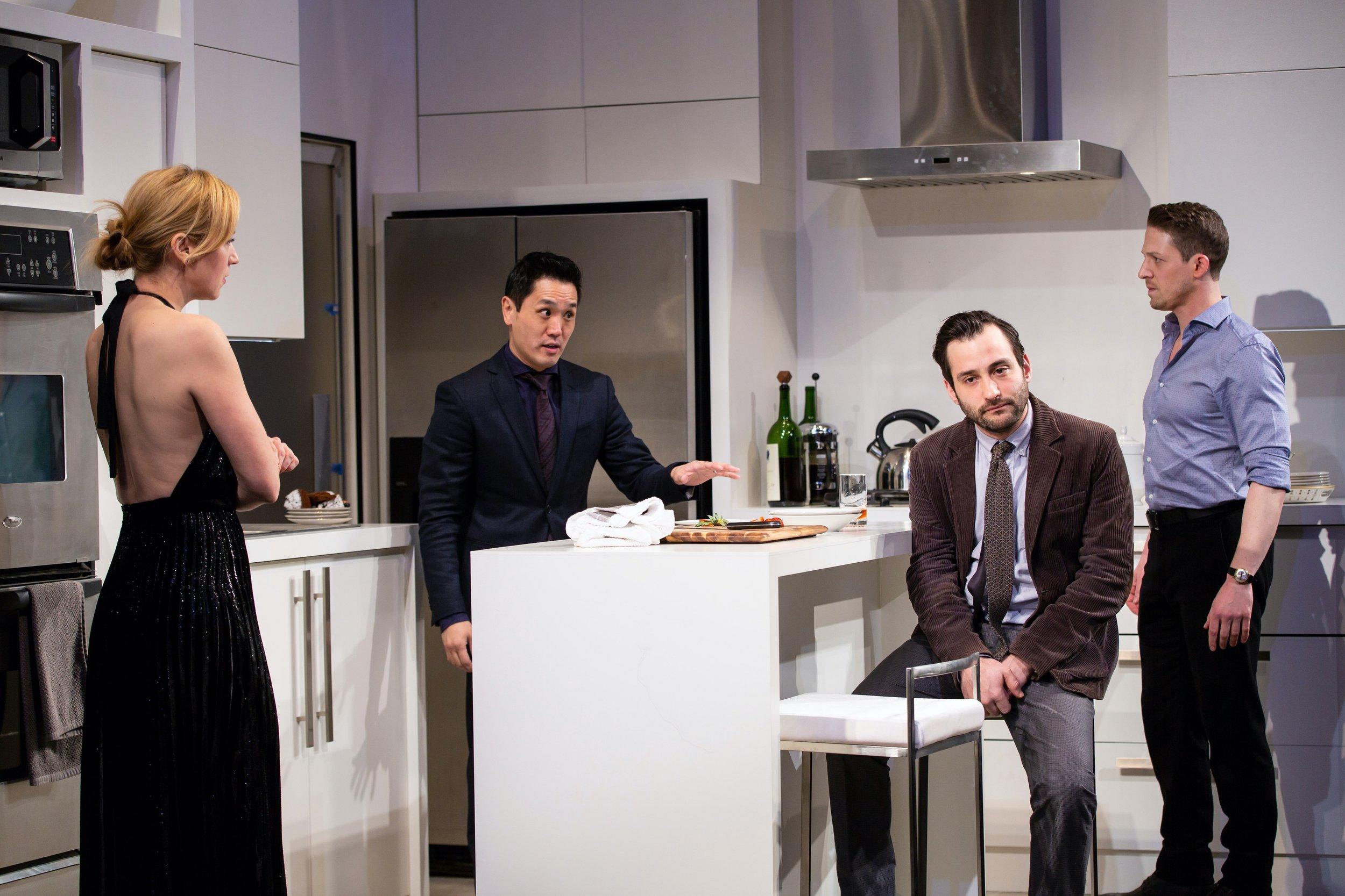 Katherine (Beth Riesgraf), Kai (Brian Lee Huynh), Alan (Teddy Bergman), Josh (Zach Appelman)