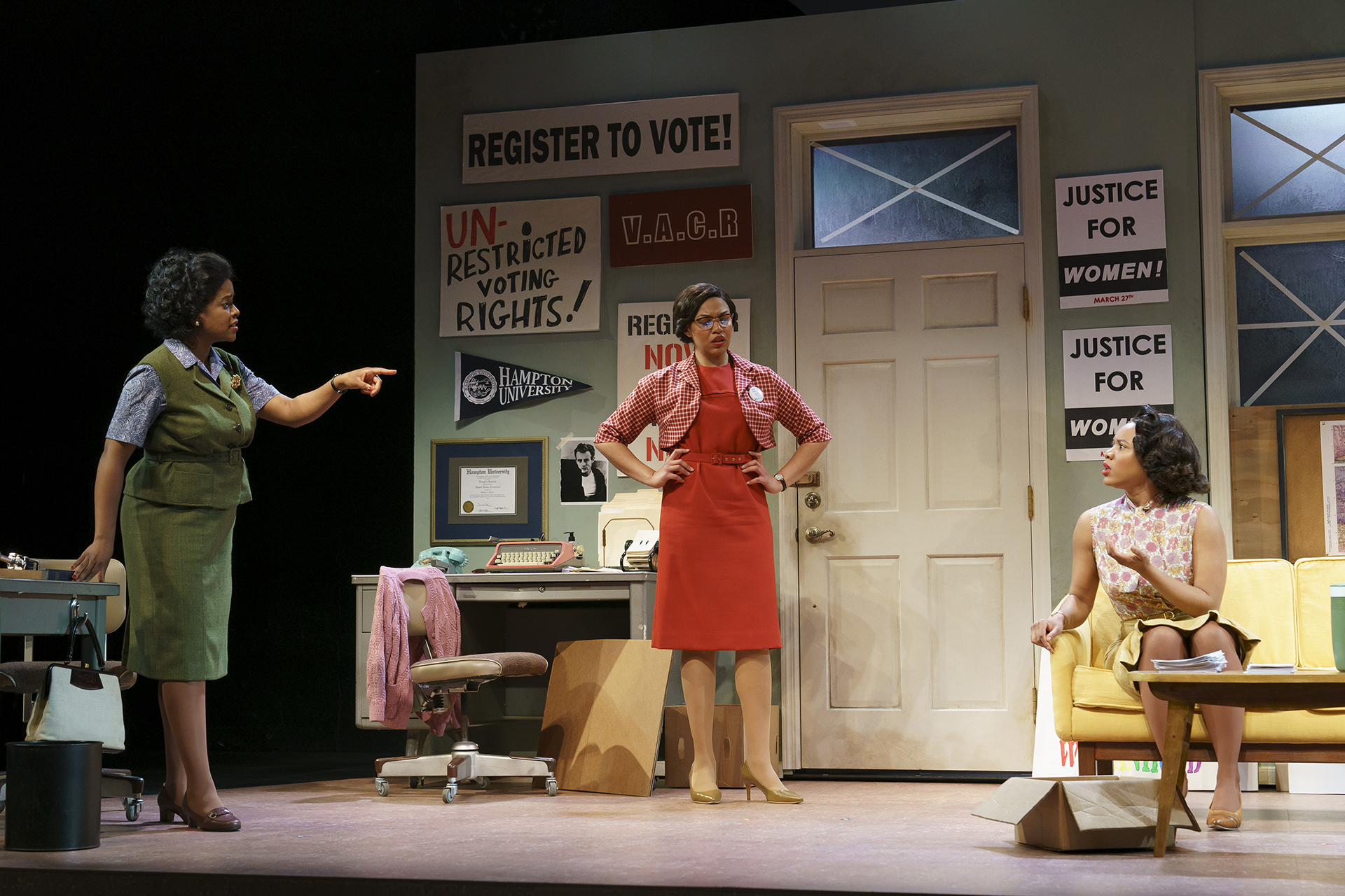 Dee (Ashley Bryant), Rachel (Chalia La Tour), Abby (Dria Brown) (photo by Joan Marcus)