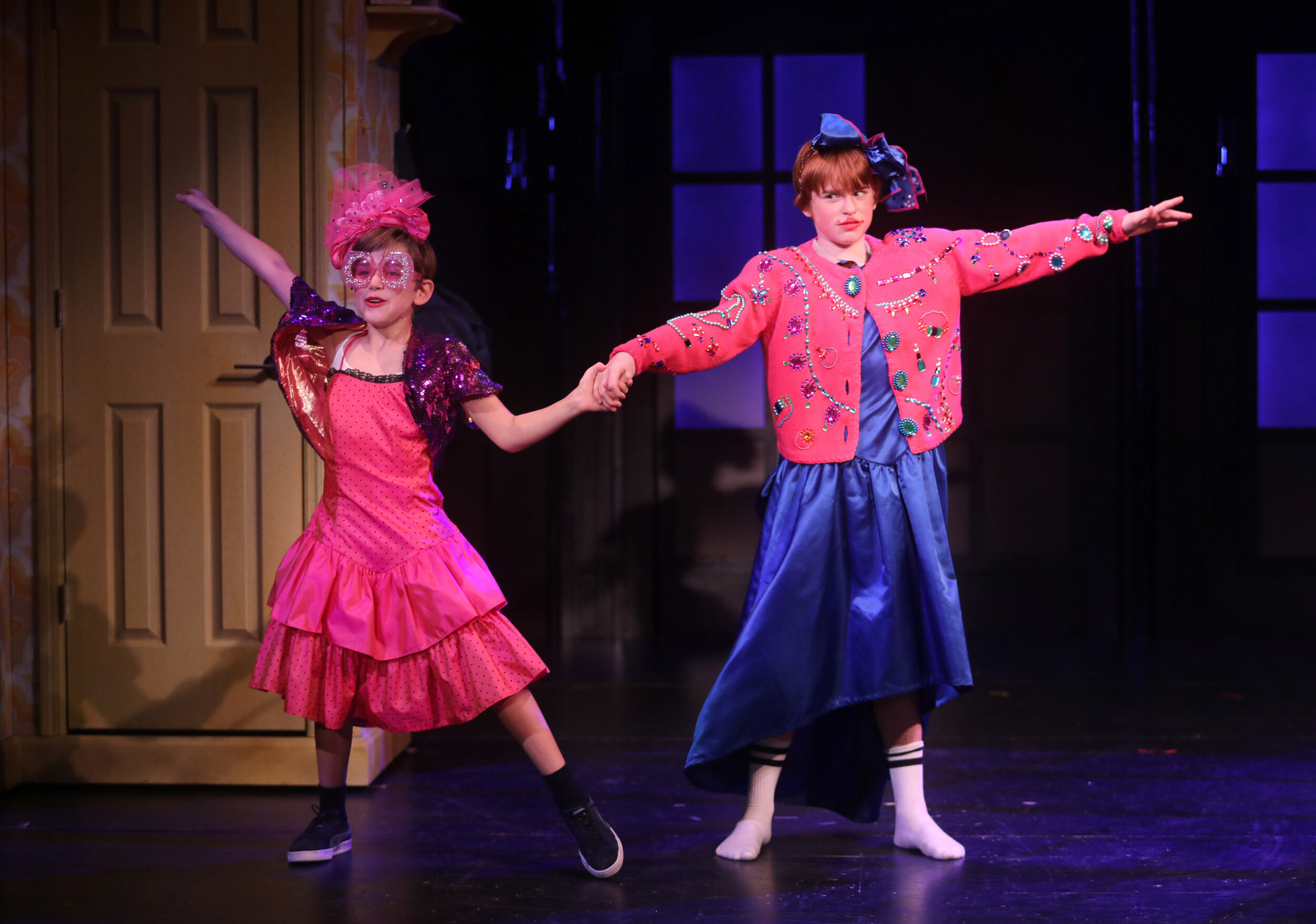 Michael (Jon Martens) and Billy (Liam Vincent Hutt) in Goodspeed Musicals'  Billy Elliot The Musical.  Photo by Diane Sobolewski.