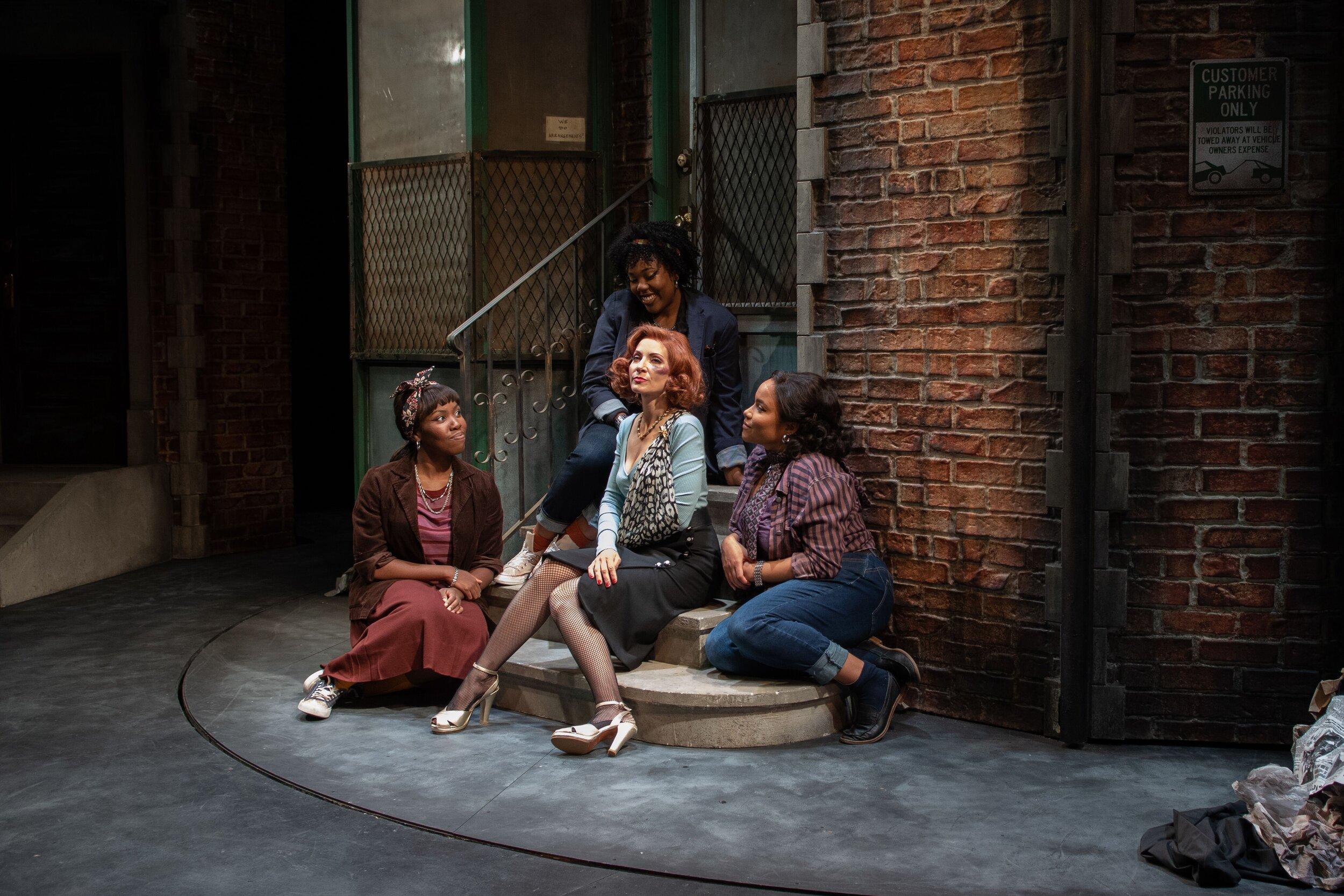 Chiffon (Kadrea Dawkins), Audrey (Laura Woyasz), Crystal (Ashley Alexandra Seldon), Ronnette (Rachelle Legrand), second row