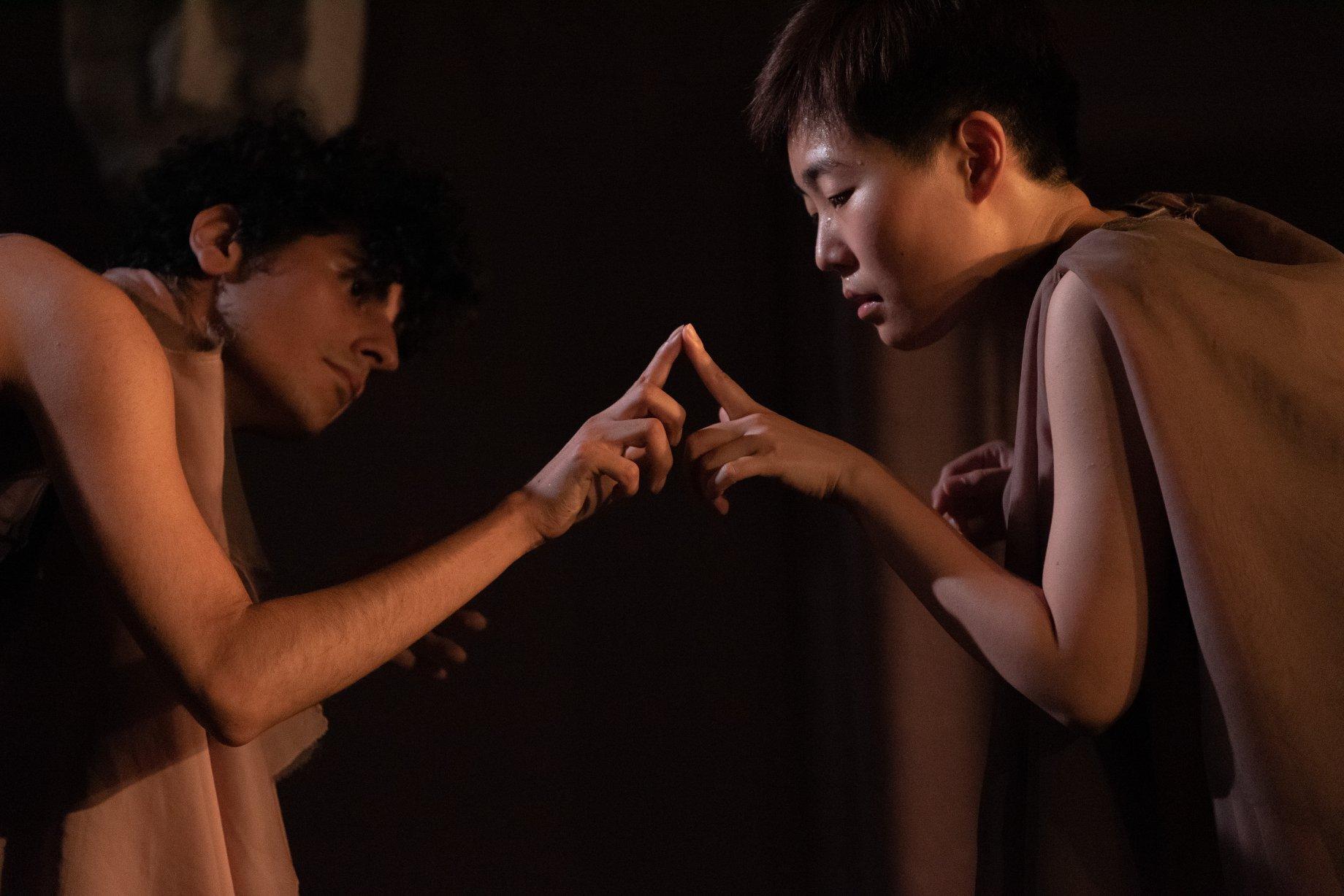 Benjamin Benne and Jisun Kim in benjisun presents bodyssey, Yale Cabaret, Oct 3-5, 2019 (Blaq Pearl Photography)