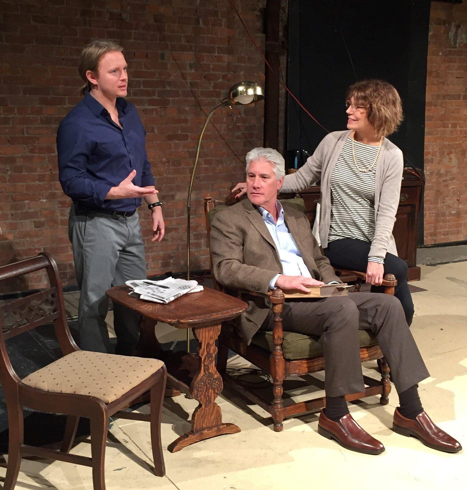 Kiel Stango (Jamie), George Kulp (Edward), Susan Kulp (Alice) in William Nicholson's  The Retreat from Moscow
