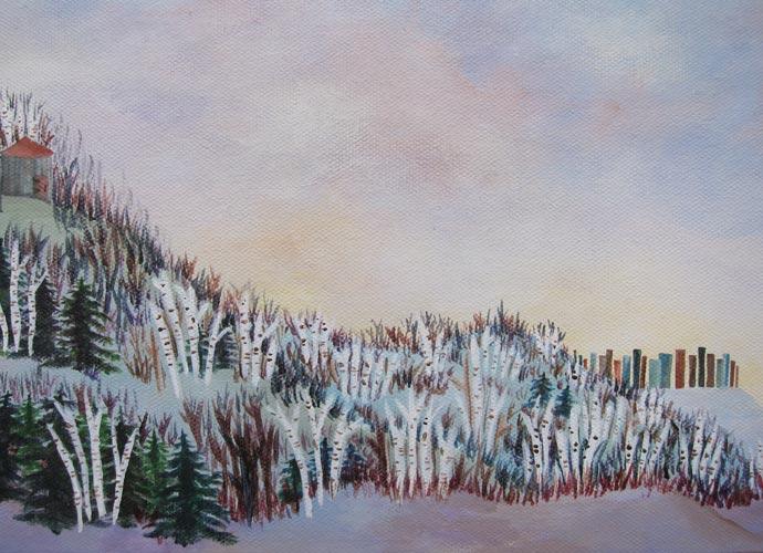 Straddlescapes: Winter Birch Grove