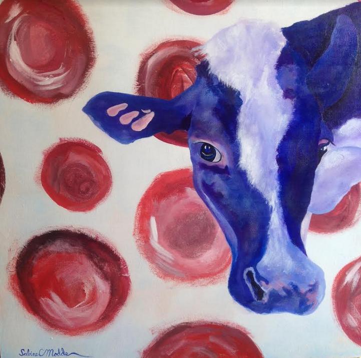 Bessie Blue sees spots