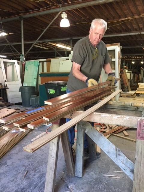 Tim, working at ReUse Warehouse