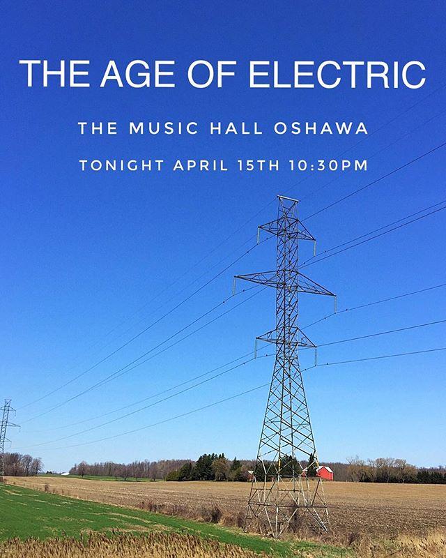 Oshawa tonight ! ! !  @themusichalloshawa  Show starts at 8:20  AOE on stage at 10:30
