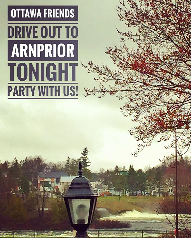 Ottawa friends drive to Arnprior tonight and party with us on our last Canadian show til who knows when!! This town is beautiful slice of Canada 🇨🇦