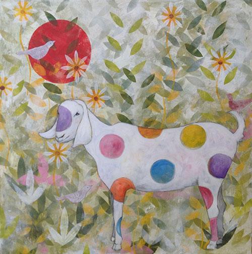 Polka dot goat