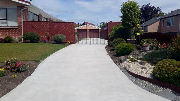 Plain Concrete Drive in Christhcurch