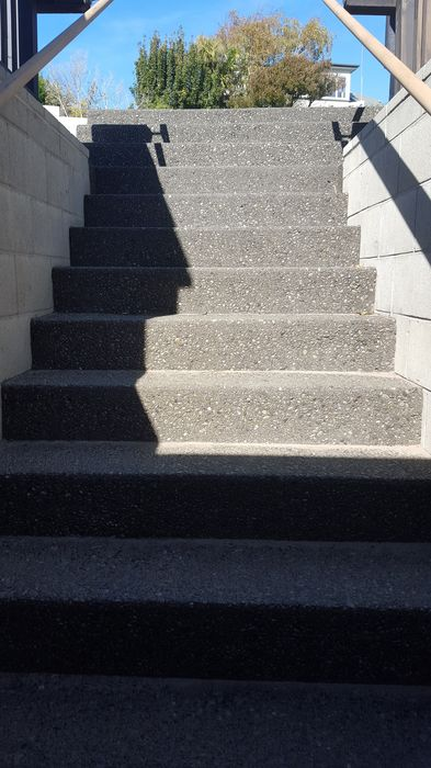 Exposed aggregate conrete stairs christchurch