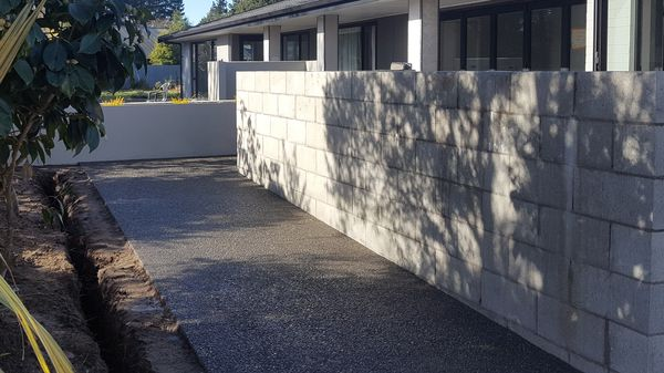 exposed aggregate concrete paths Christchurch