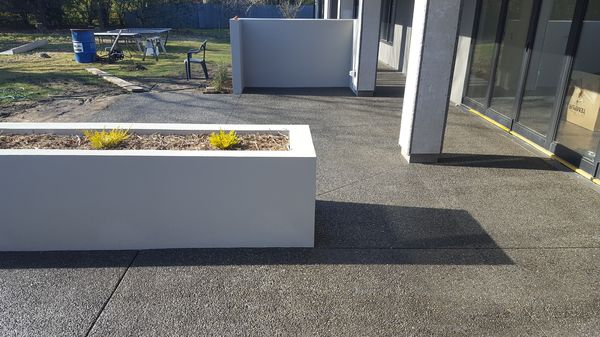 exposed aggregate paths patios Christchurch