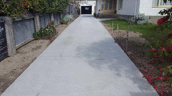 Plain Concrete Drive