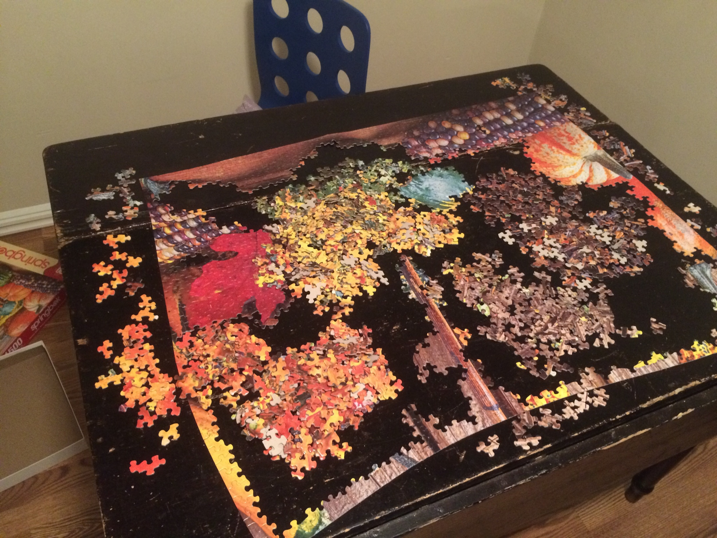 My Thanksgiving puzzle that I've been working on for a long time!