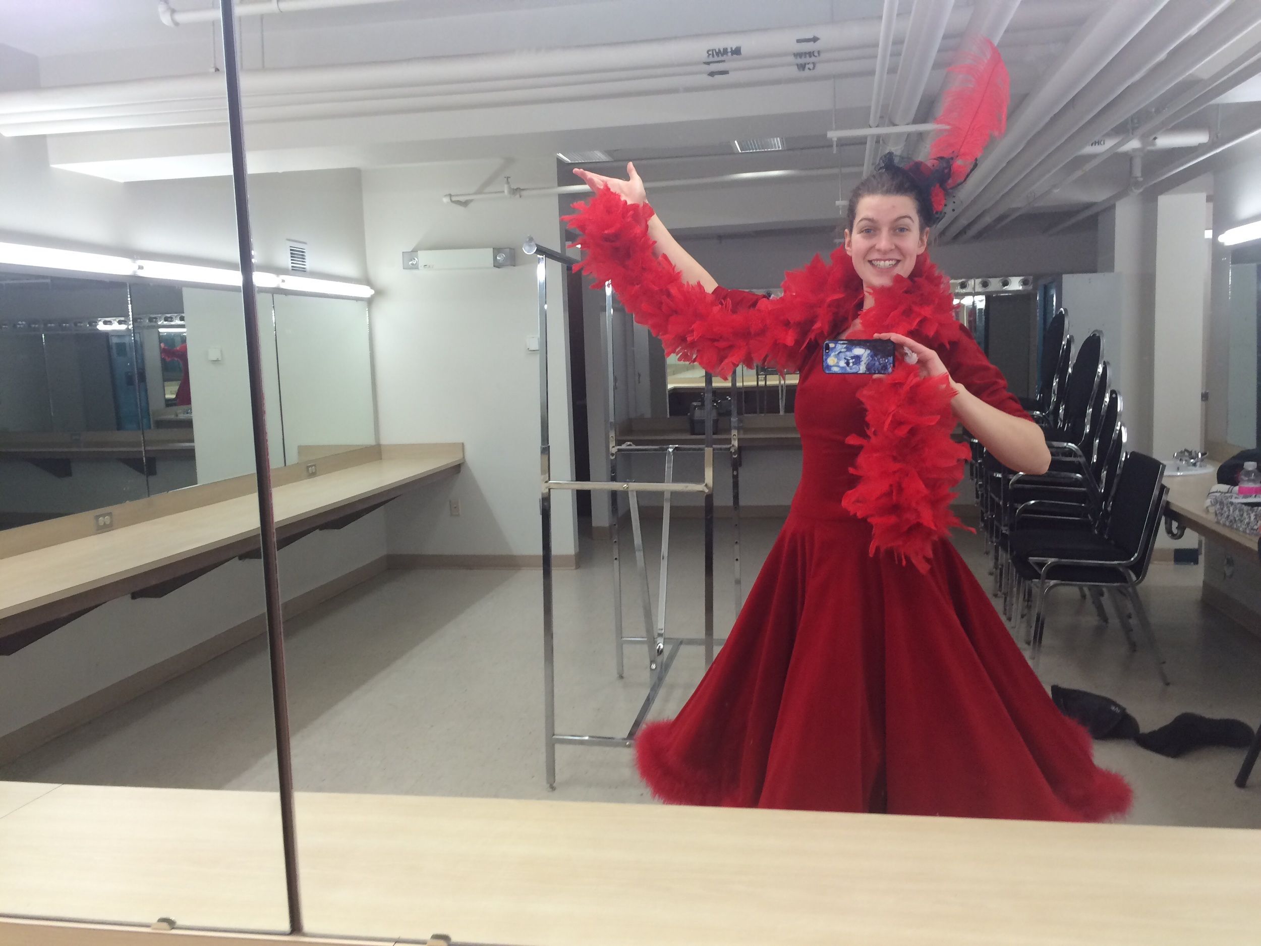 One of my many fun costumes!  In my enormous dressing room