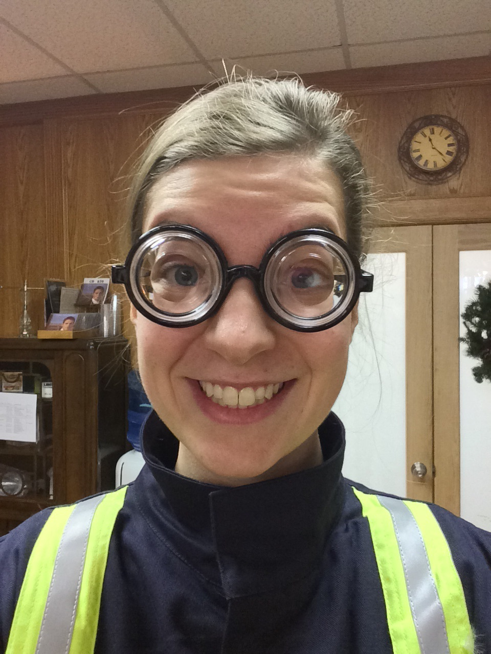 Another fun costume! The glasses mean you have to look straight ahead to avoid getting dizzy.