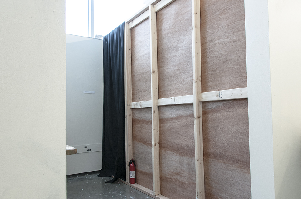 I Am Not Your Asian Fuck Toy II.  Sound installation piece in a constructed room 125x54x96 inches.  Installation view.