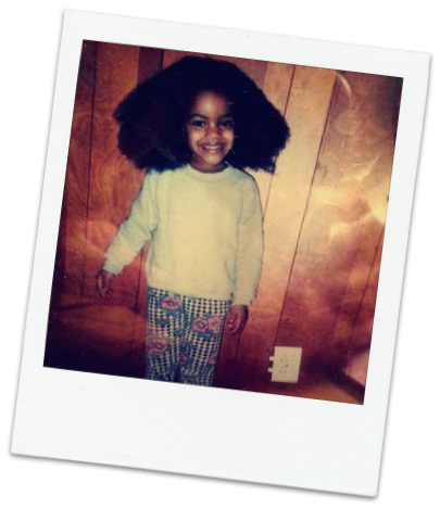 Baby Asia and her Fro, Circa '98.