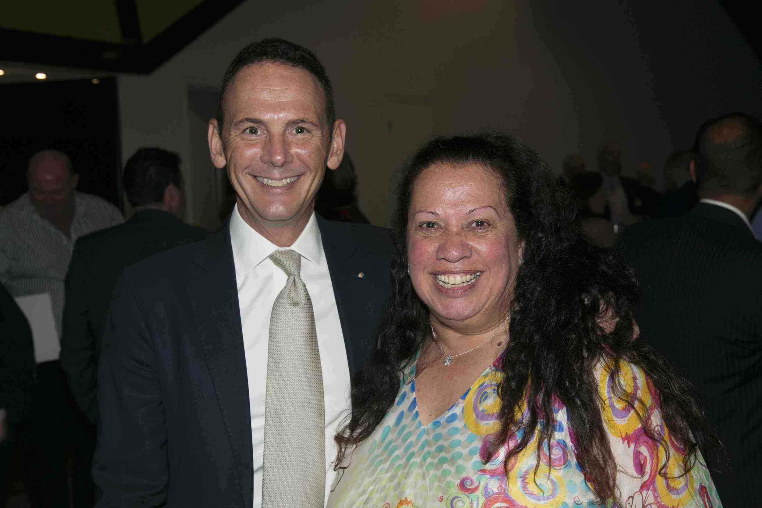 Leadership WA award winners Frank Daly (Acting chief executive of the Child and Adolescent Health Service) and Colleen Hayward - head of Kurongkurl Katitjin, Edith Cowan University's Centre of Indigenous Education and Research.