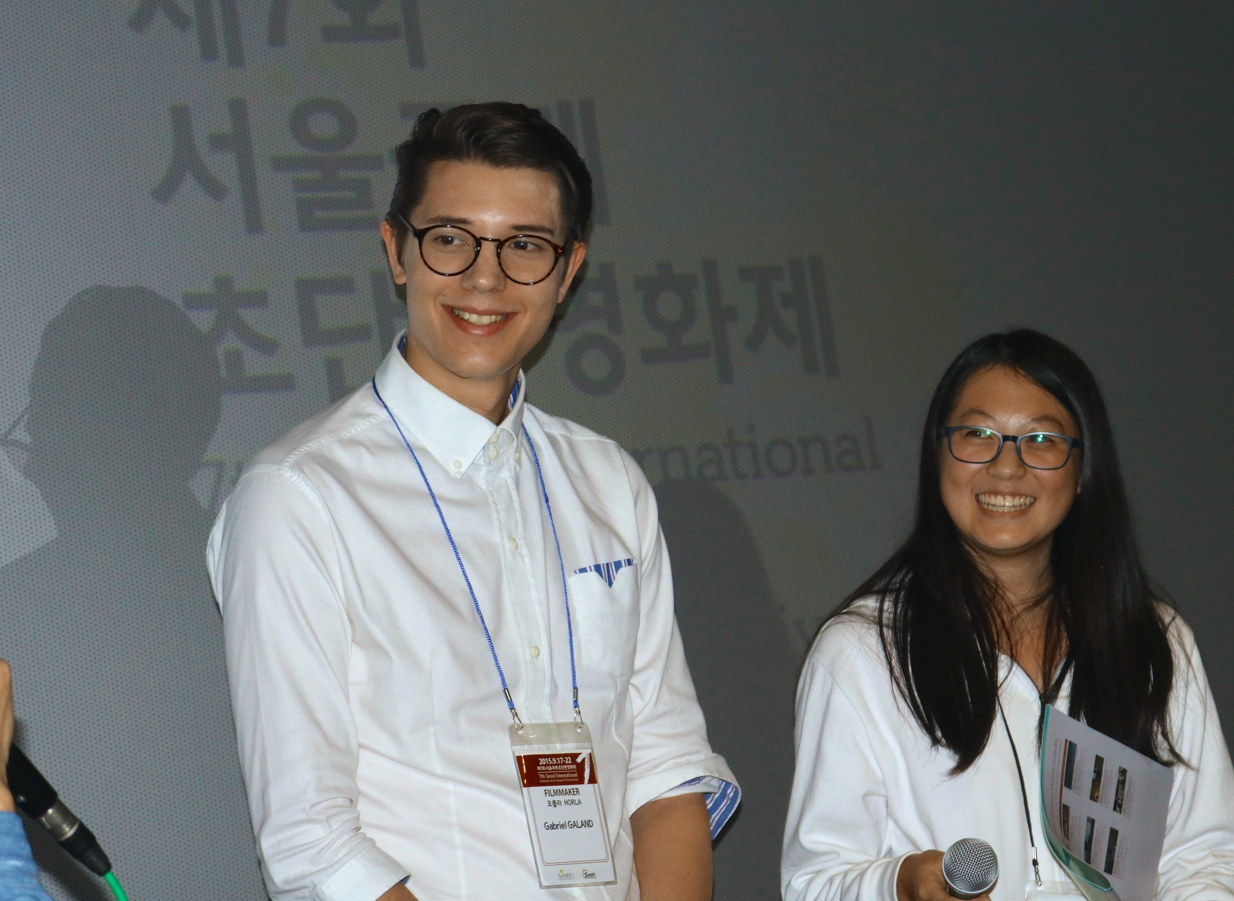 """Attending the """"Bloody Night"""" screening at the 8th edition of the SESIFF in Seoul"""