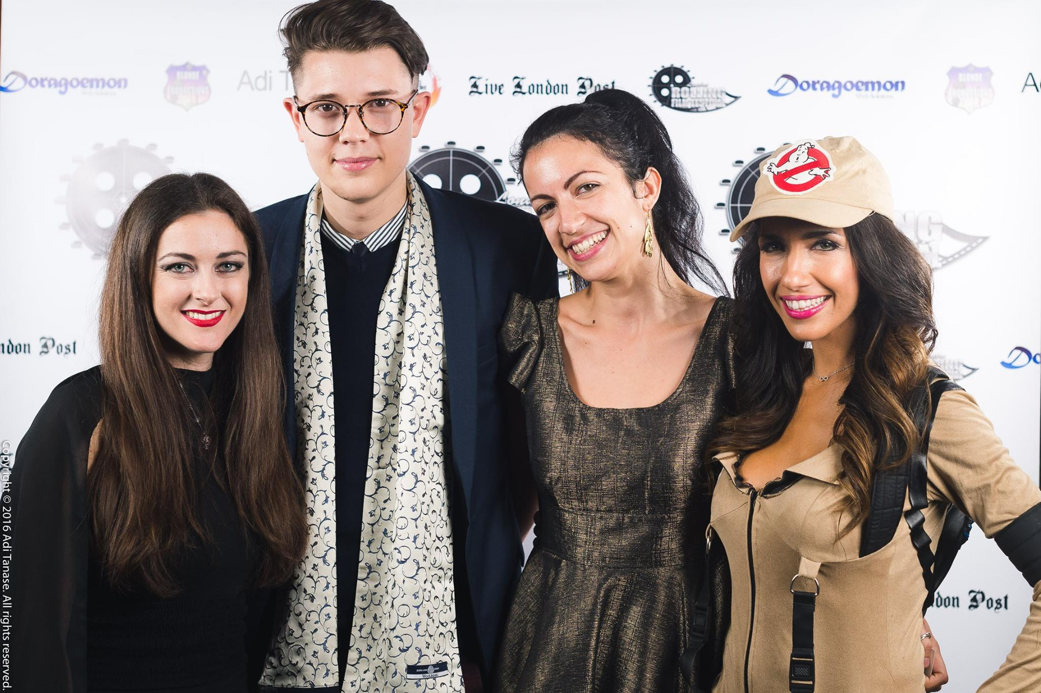 At the premiere of Horla in London with host actress Alida Pantone and guest stars.