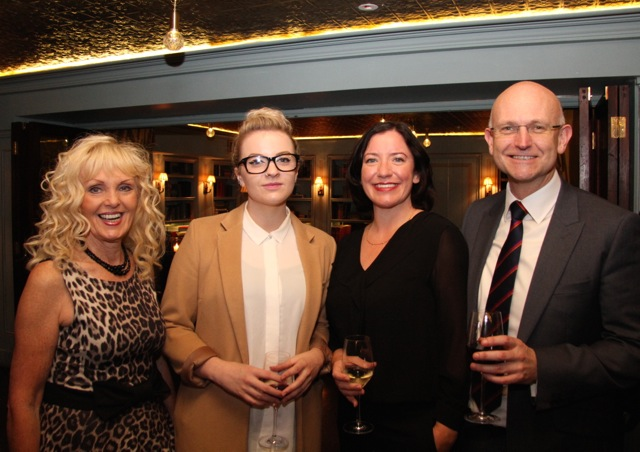 Kathryn Bowe, International film events coordinator Eibh Collins, Angela Sammon and Mark McNulty of State Street Global Advisors Ltd.