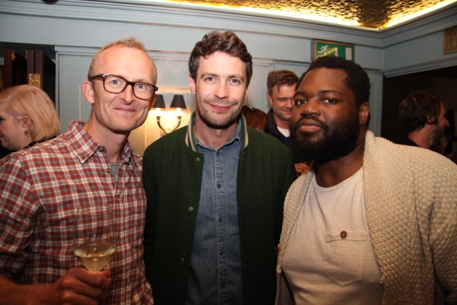 Ben Brass with film-maker Jamie Delaney and writer / producer Afolabi Kuti.