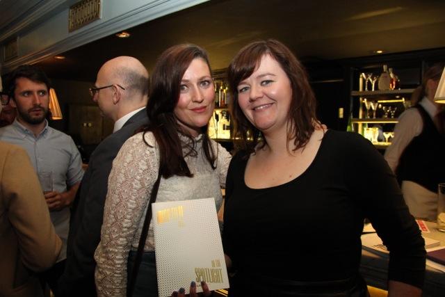 Sheila Tighe and Irish Film Board executive Sarah Dillon.