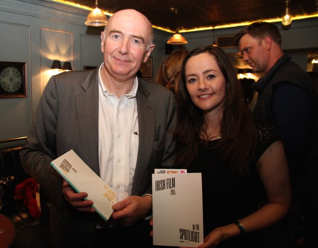 Chief Executive of the Irish Film Board James Hickey and Irish Film Festival London director Kelly O'Connor.