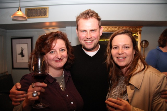 Film-maker Tracy Spottiswoode with actor / producer Vaughan Sivell and Hannah Thomas of Film Agency Wales.