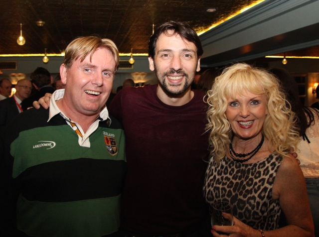 John Bowe of Irish TV with actor Ralf Little and Kathryn Bowe.