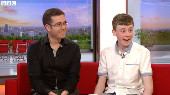 Tomm Moore and David Rawle on BBC Breakfast News