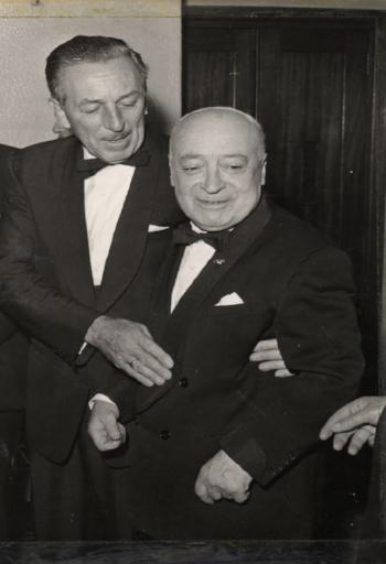Jimmy O'Dea and Walt Disney