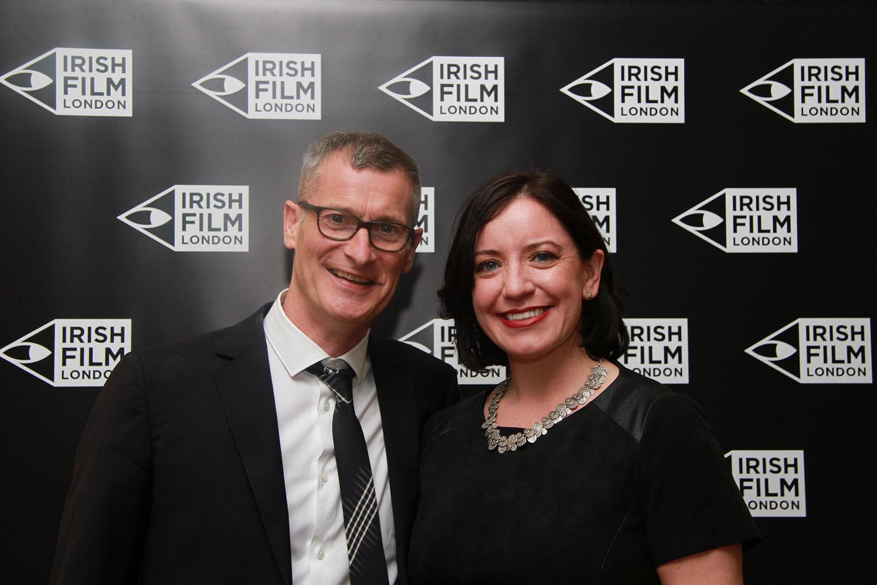 Irish Film London Directors Professor Lance Pettitt and Angela Sammon