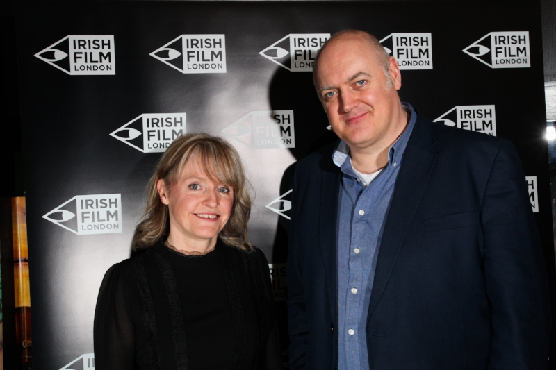Irish director Emer Reynolds and presenter and comedian Dara O'Brien