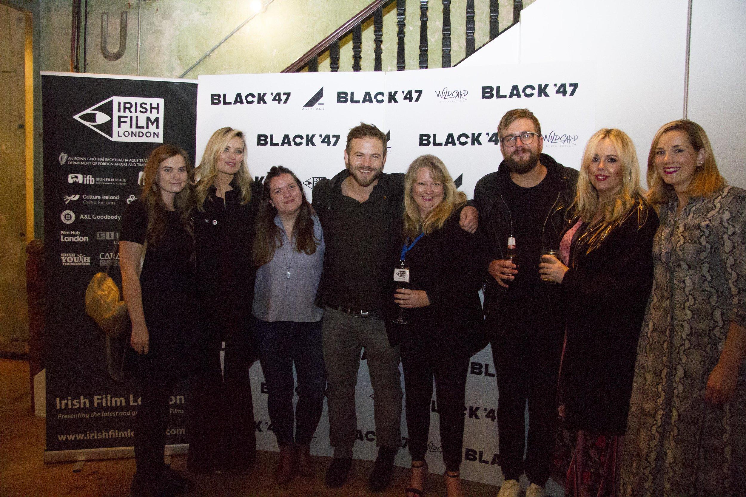 Black 47 London Premiere 2018 Photos courtesy of Noel Mullen Irish Film London 66 Eimear Keenan Laura Whitmore Sile Culley Moe Dunford Sinead Smith Iain Stirling Roisin Conaty and Suzie Houlihan.jpg