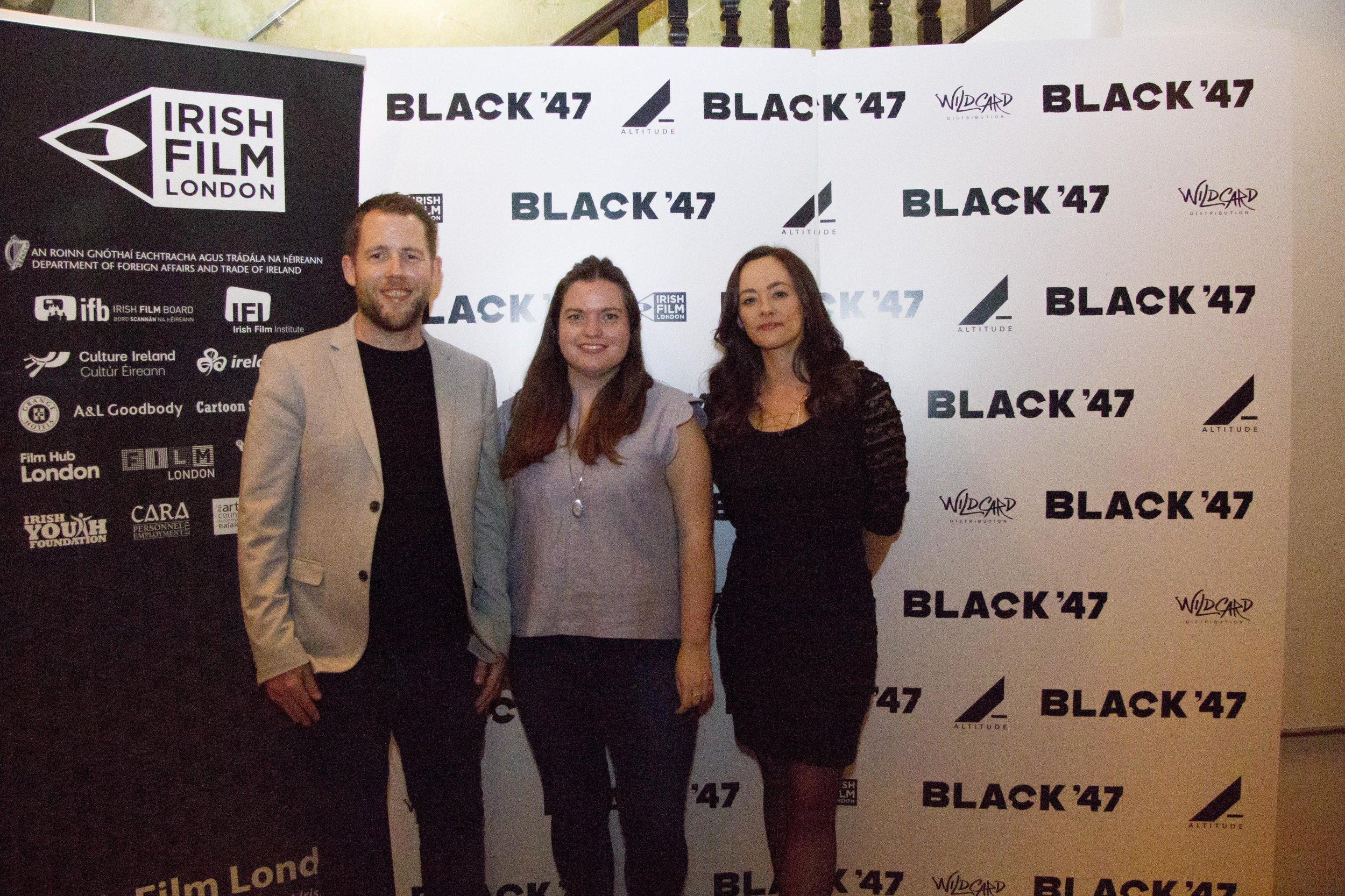 Black 47 London Premiere 2018 Photos courtesy of Noel Mullen Irish Film London 74 Macdara Kelleher Sile Cully and Kelly O Connor.jpg