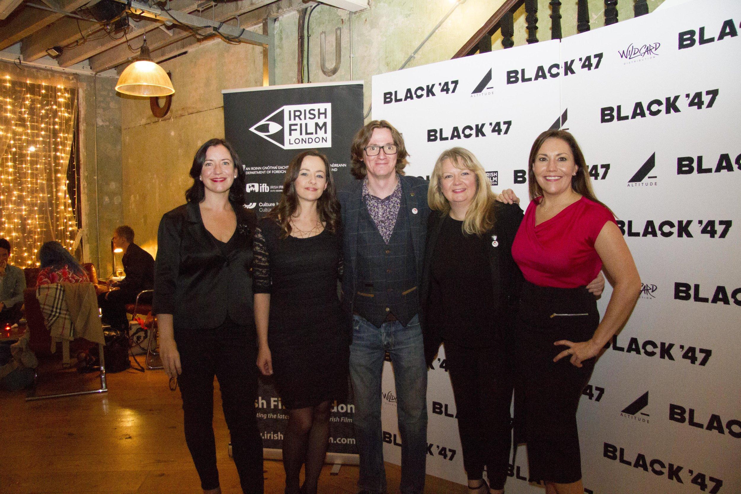 Black 47 London Premiere 2018 Photos courtesy of Noel Mullen Irish Film London 75 Angela Sammon Kelly O'Connor Ed Byrne Sinead Smith and Claire Turvey.jpg