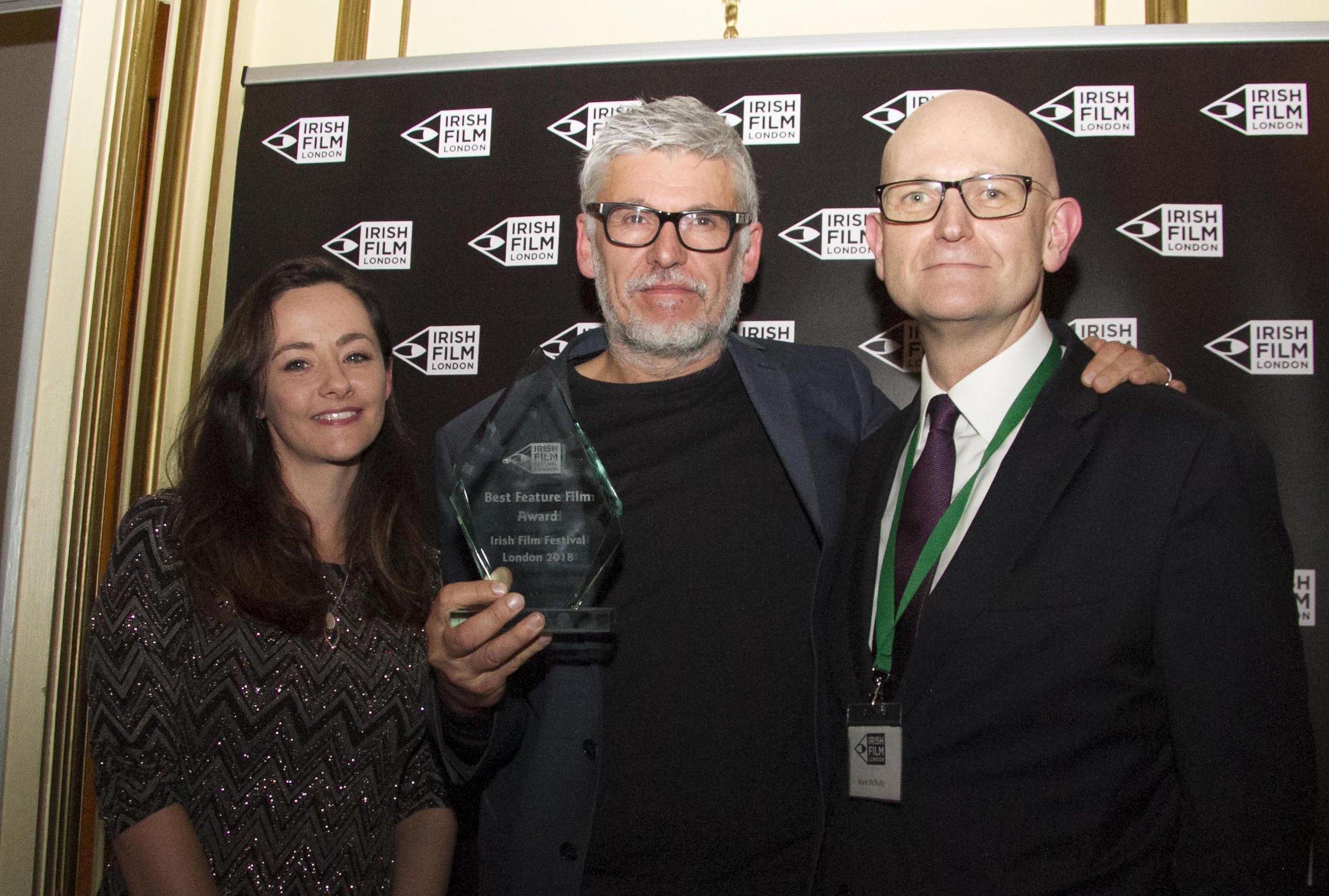 Kelly O Connor Irish Film London with Paddy Brethnach Rosie and Mark McNulty.jpg