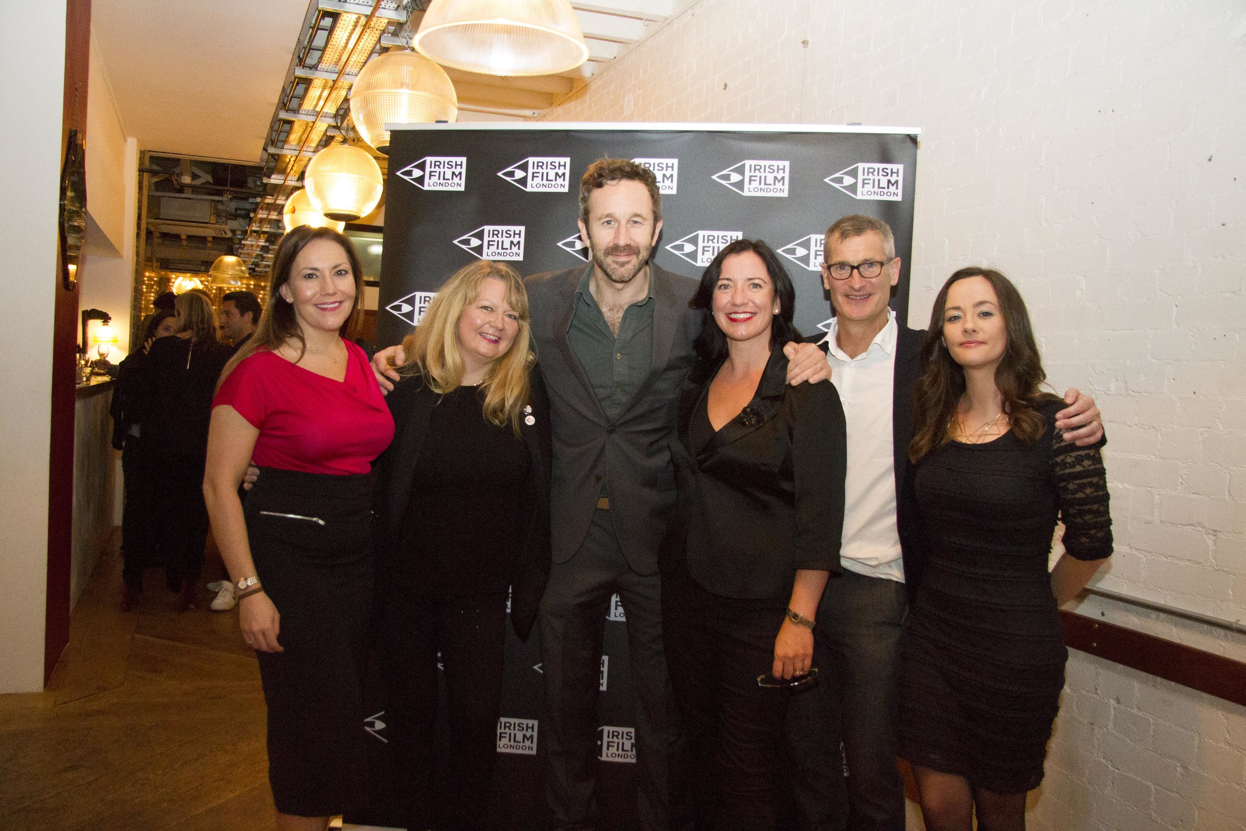 Irish Film London Board of Directors with Chris O'Dowd