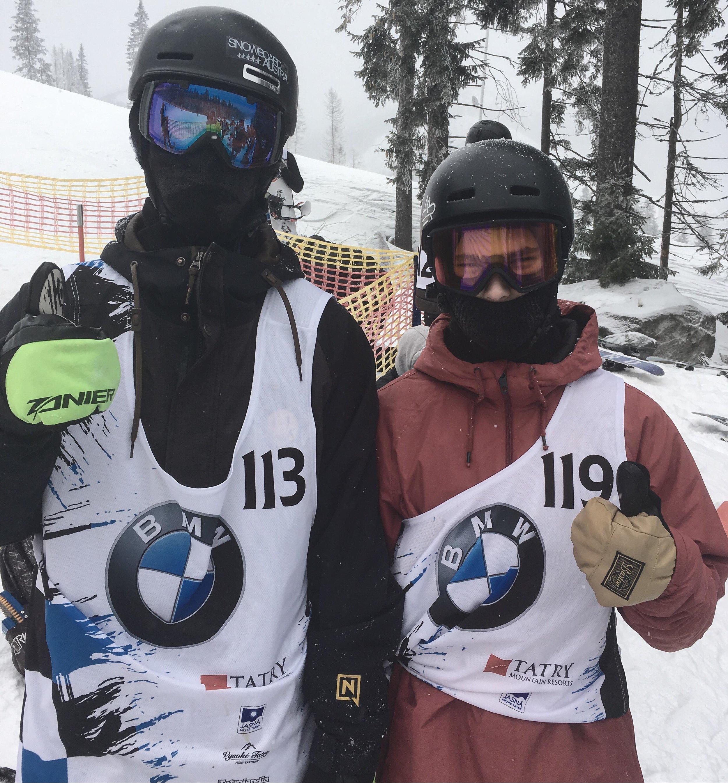 Boti (jobbra), és osztrák edzőtársa, Max Deutinger