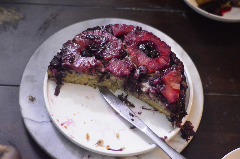 Zobo-Pineapple Upside Down Cake