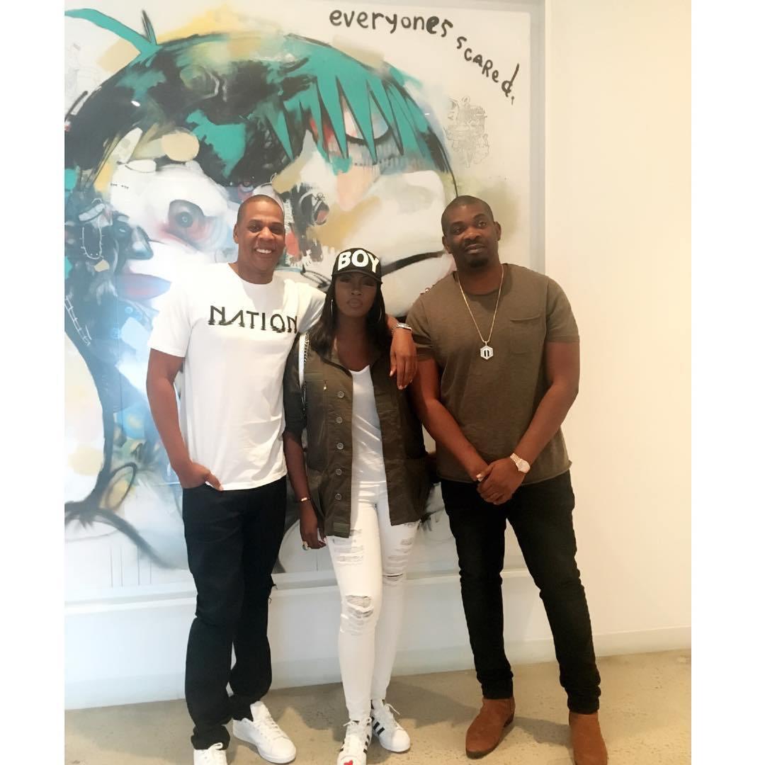 Jay Z, Tiwa Savage and Don Jazzy // Source: Tooxclusive.com