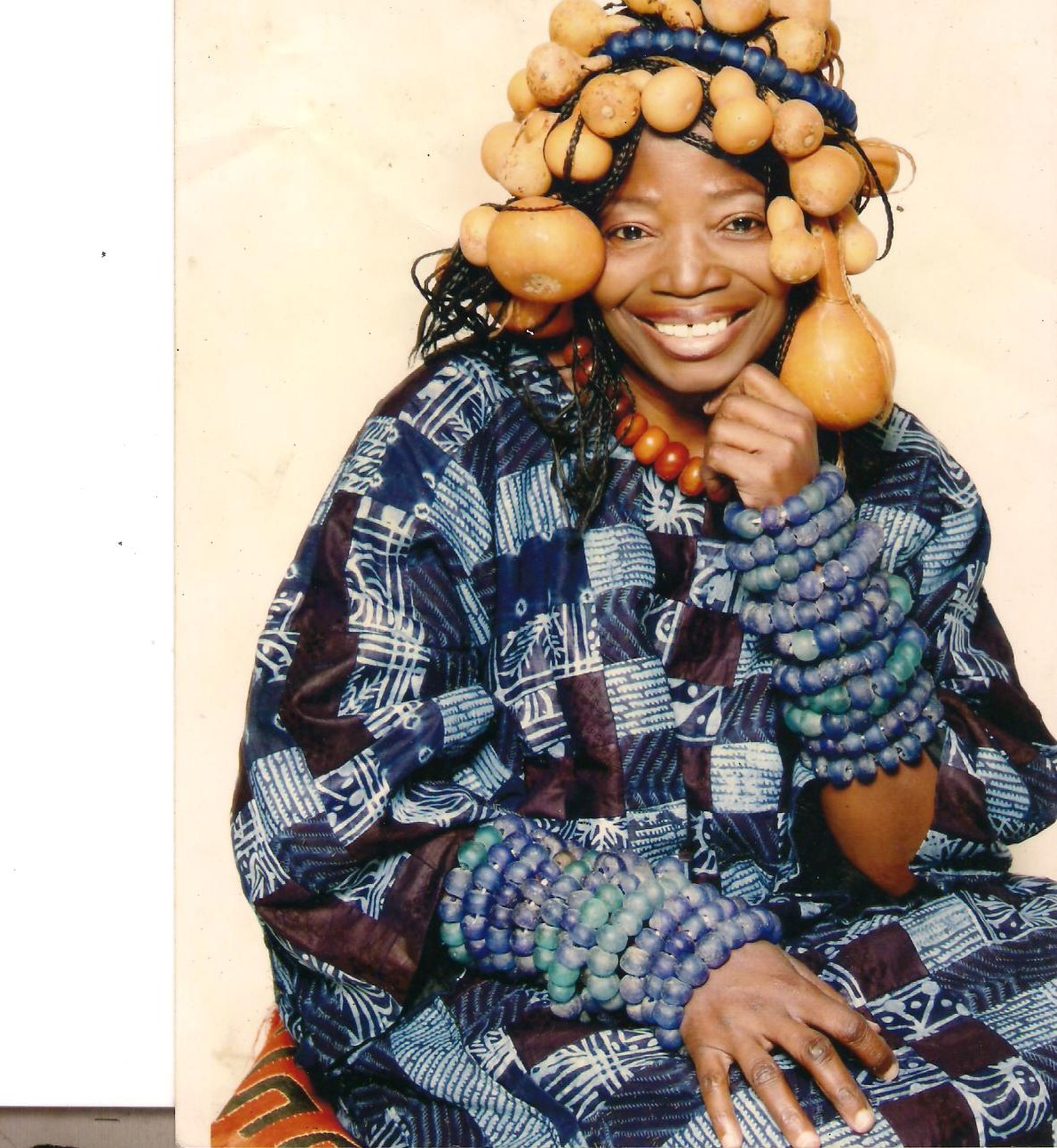 MRS NIKE DRESSED IN AFRICAN ATTIRE AND ACCESSORIES