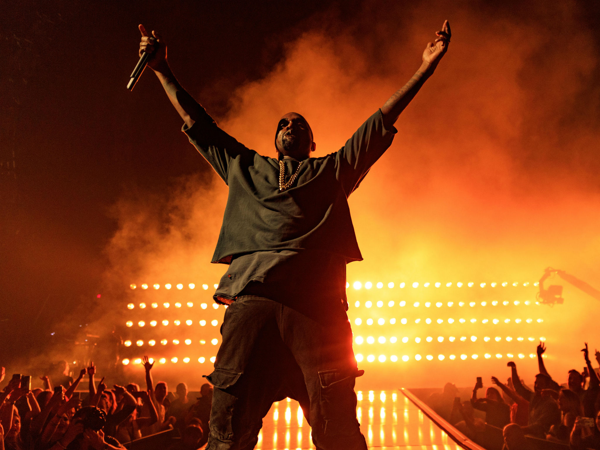 Kanye West on Stage // Source: www.independent.co.uk/